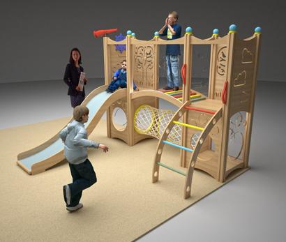 Компактная игровая зона в детском центре «Умный Малыш»