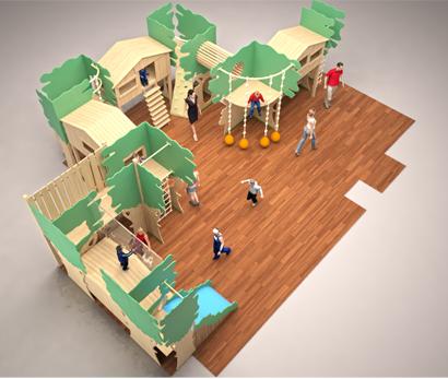 Детская игровая комната в детском центре «Хоклив»