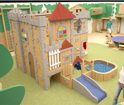 Игровое оборудование «Замок в лесу»