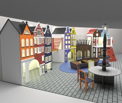 Детская игровая зона в кафе